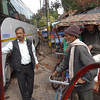 Piyush hiring pedicabs for tour of Old Delhi