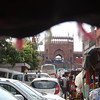 View from the pedicab - approaching Jama Masjid