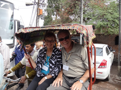 Our pedicab driver, Vadis and Dwaine