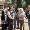 Tour group waiting at the entrance