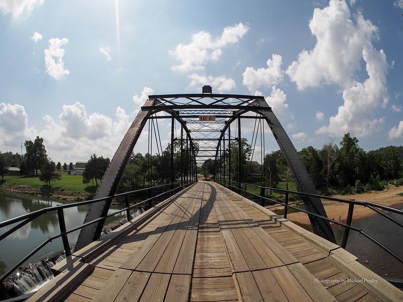 One lane bridge at War Eagle Mill
