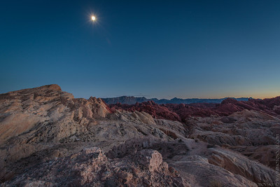 Valley of Fire moonrise