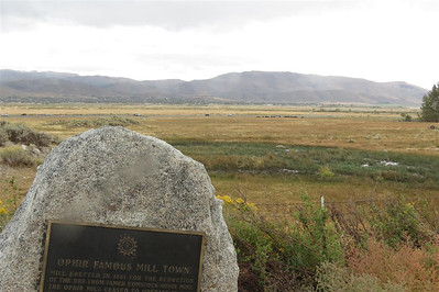Washoe Valley at the Ophir Mill Town historical marker