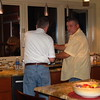 Billy and David on Kitchen duty