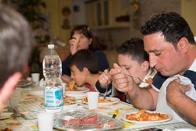 Gianni enjoying his pasta