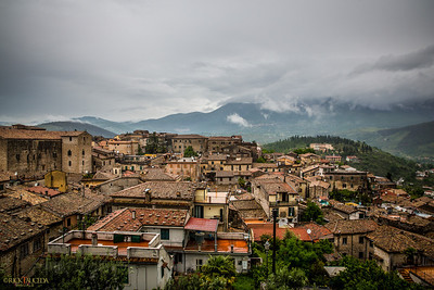 View of old Alatri from the hill.