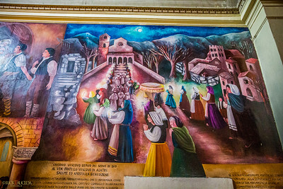 Mural inside the Cathedral