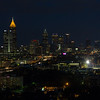 Atlanta at night from the Ogilvy and Mather suite on the 21st floor of 271 17th Street NW
