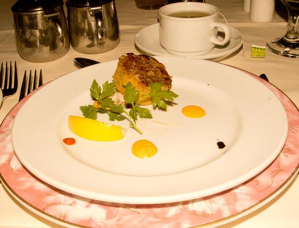 Crab cake.
