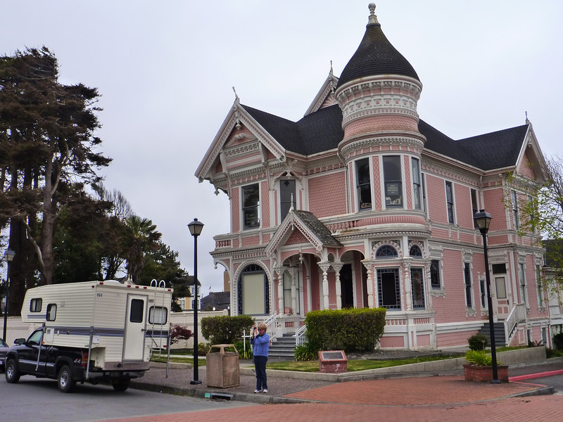 Old Victorian gingerbread house in Eureka.