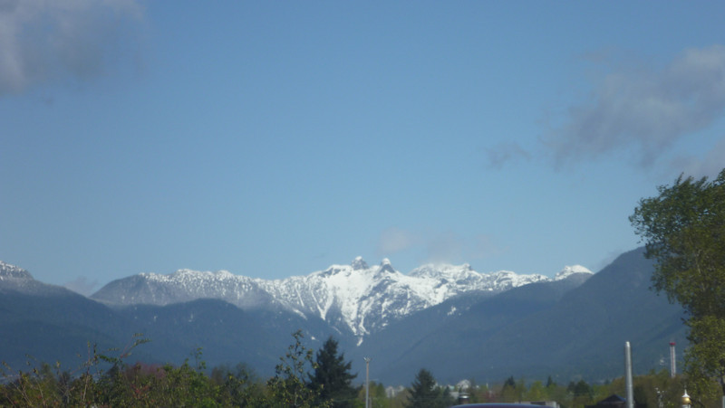 """First day on our road trip to California - a stopover in Vancouver. These are the """"Lions"""" Mountains in North Vancouver"""