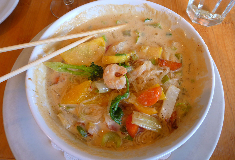 Thai seafood chowder with Mexican nuances.