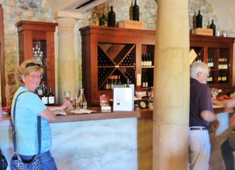 Tasting at Sebastiani Winery.