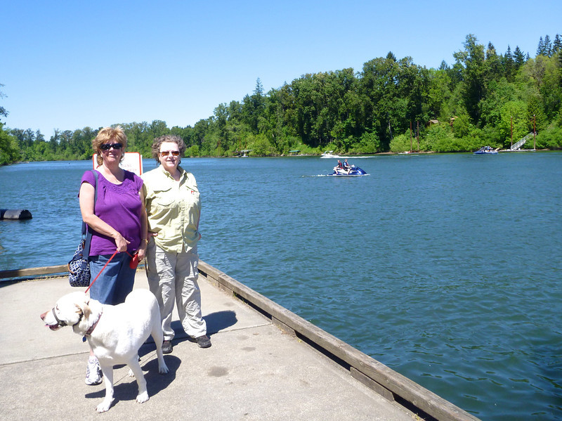We visited our friend Annie in Salem. She took us on a day trip to Champoeg State Park on the Willamette River. Boston wanted to go for a swim.