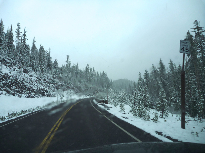 Crater Lake highway late May.