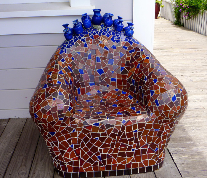 Mosaic chair is actually comfortable
