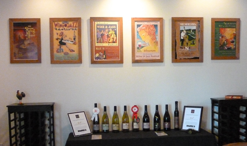 Tasting room at the Pudding River winery