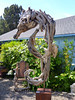 Giant driftwood seahorse.
