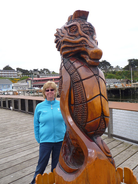 Bandon By The Sea has a large collection of wood carvings, much like where I live in Campbell River