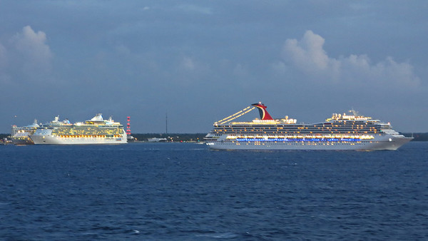 Cozumel is a popular place for cruise ships