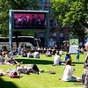 City Hall Park sunbathers