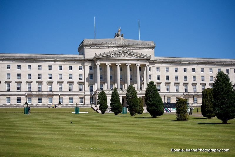 Stormont, seat of the Northern Ireland Assembly. A symbol of progress to Northern Ireland's troubled past, the power sharing executive with responsibility for Northern affairs rules from this impressive building.
