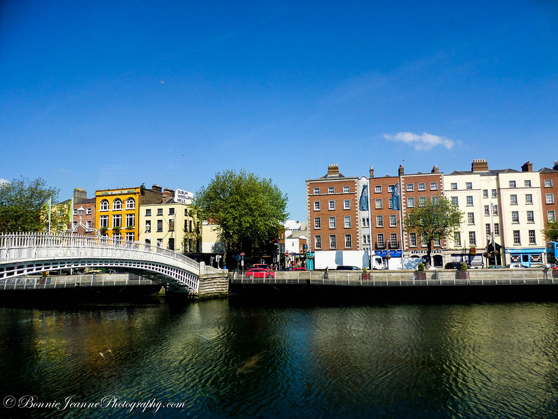 The Ha'penny Bridge; an old iron footbridge over the River Liffey is one of the most photographed sights in Dublin and is considered to be one of Dublin's most iconic landmarks.