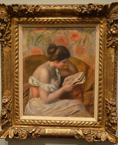 Renoir's Woman Reading (Femme Lisant) 1891 Museum of Fine Arts, St Petersburg FL