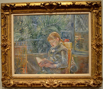 Berthe Morisot's Reading (La Lecture) 1885  Museum of Fine Arts, St Petersburg FL