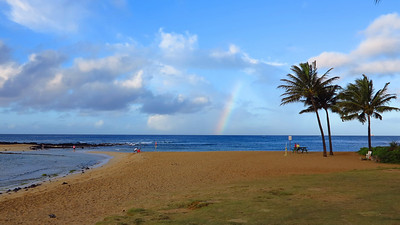 rainbow over Poipu Beach Park