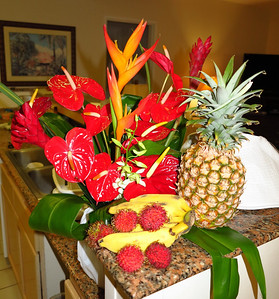 flowers from John and fruit from the market
