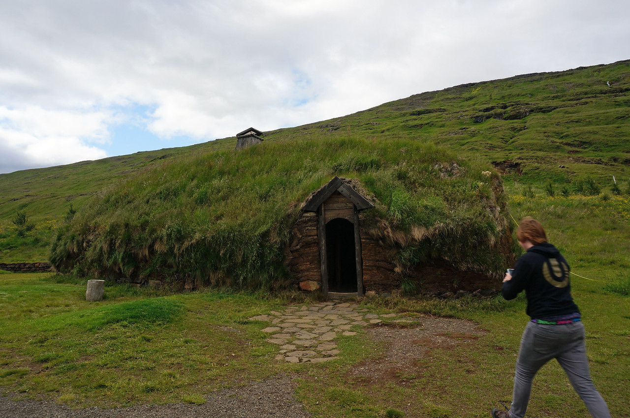 Home of Erik the Red and birthplace of Leif Eriksson. built in the traditional style prevalent during Erik's lifetime ((950–c. 1003)