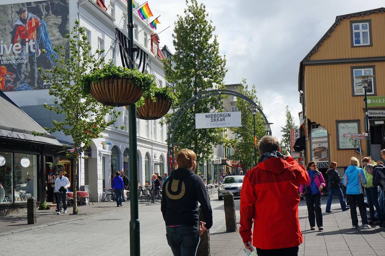Streets in Reykjavik