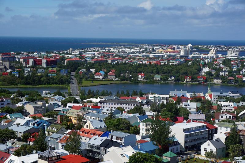 View of Reykjavik from Hallgrimskirkja