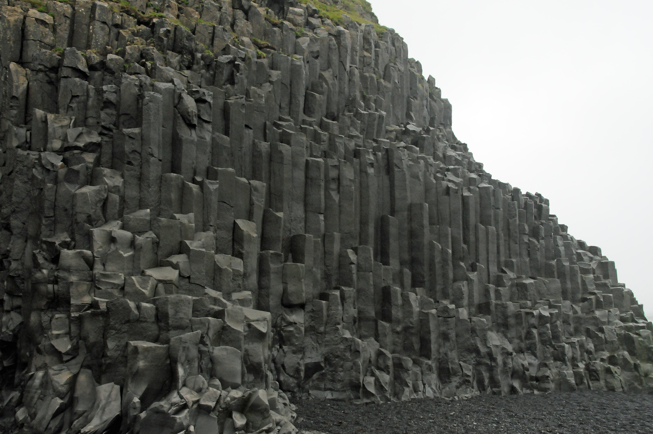 Basalt sea stacks or columns
