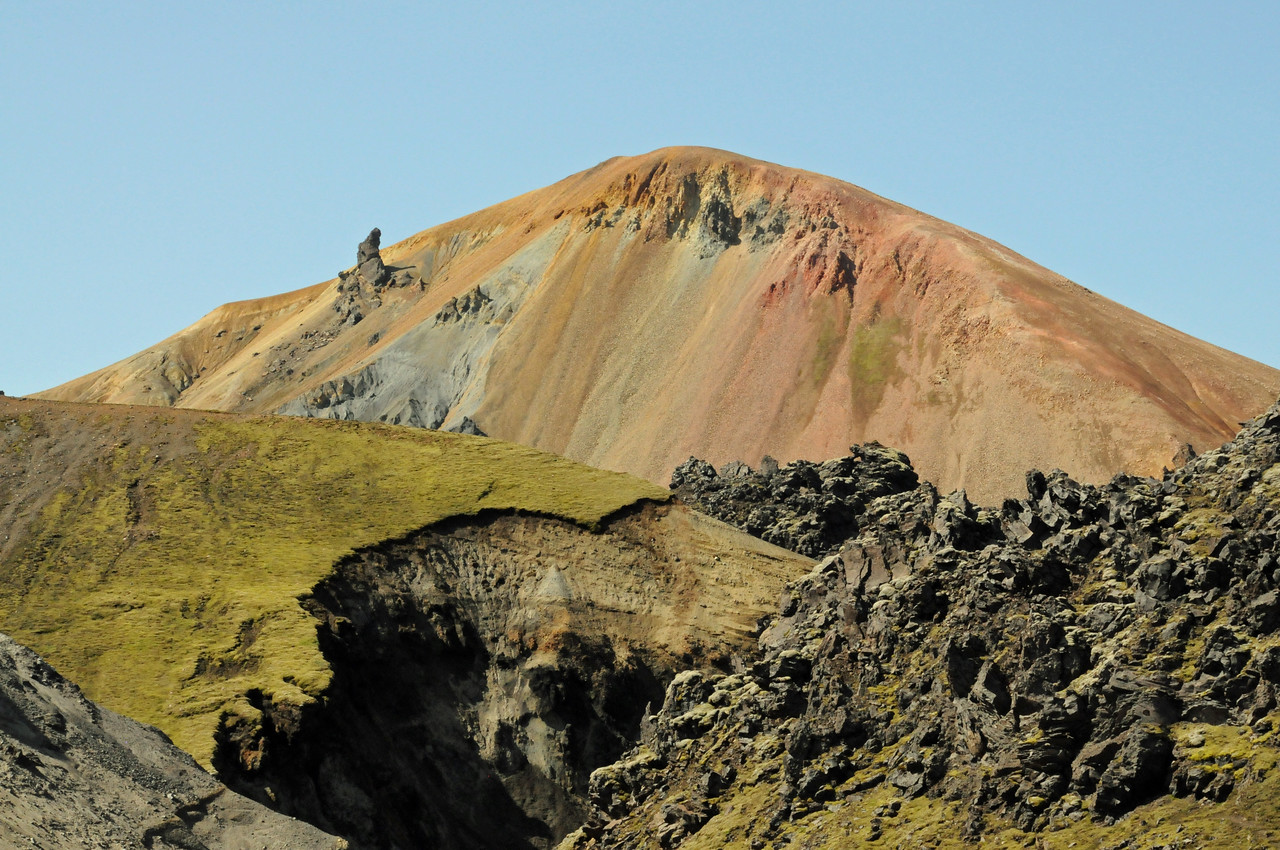 Mountains of Landmannalaugar.  Colorful rocks of pure rhyolite.
