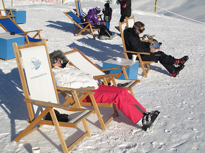 Skiing is very tiring
