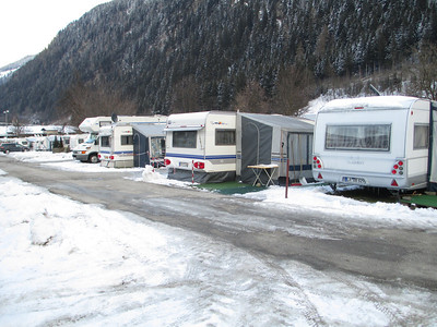 We knew that there was a campsite in Mayrhofen, so we walked down to have a look at the facilities as maybe we will use our RMB Motorhome for an extended skiing holiday in the future