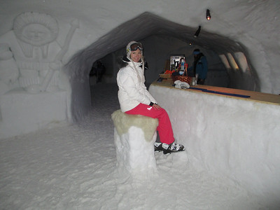 Inside The White Lounge Igloo