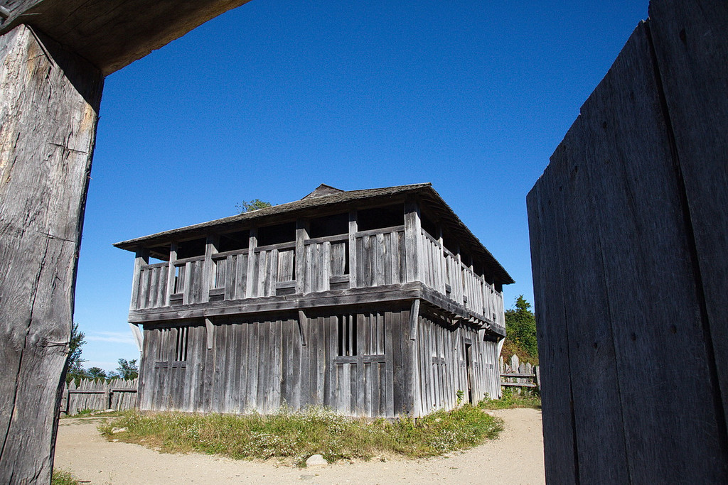 4383 A fort in Plimoth, ostensibly designed to protect the residents from intruders.
