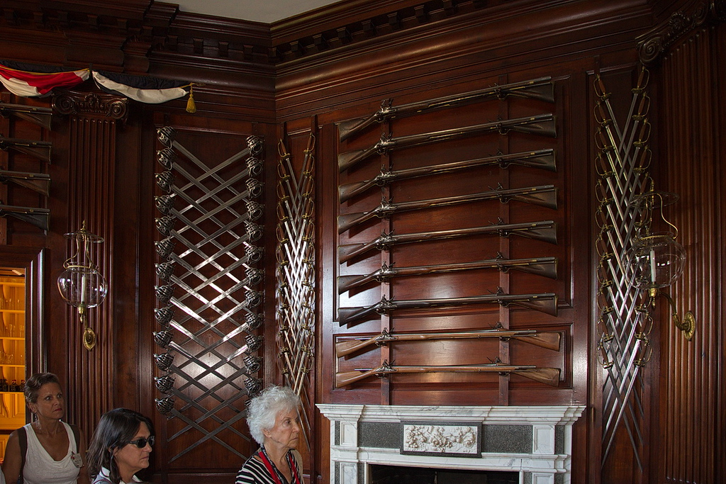 87 ...and swords. In this photo there are 26 more muskets and 70 swords, and many more muskets and swords in this room not visible in the photo, and also hundreds more in other rooms.