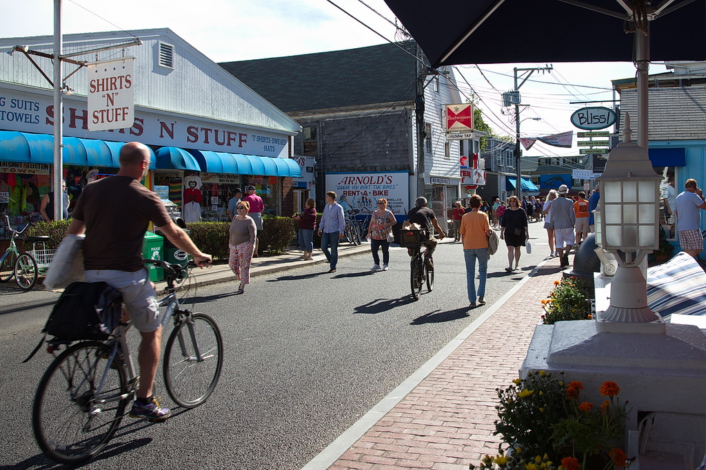 44 Provincetown is a great walking town. This is busy Commercial Street, often a pedestrian walkway rather than a street.