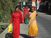 Village women in colourful clothing