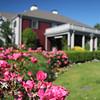 Flowers outside the Daniel Webster Inn, Sandwich, Cape Cod, Massachusetts