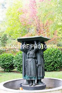 Sculpture in garden of Grave site/ Museum.
