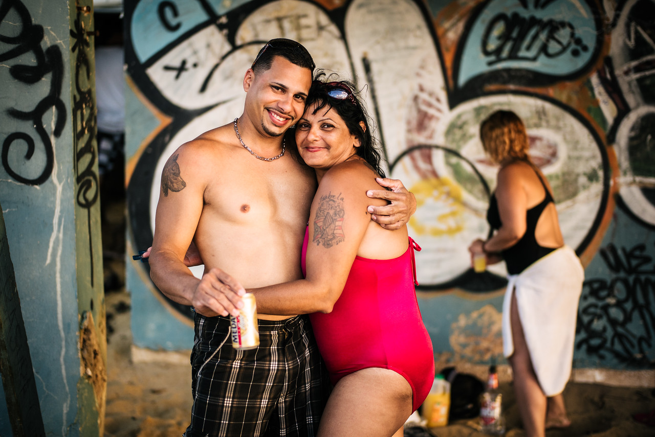 Happiness is...<br /> This couple asked me to take their picture as I walked down the beach in Puerto Rico.