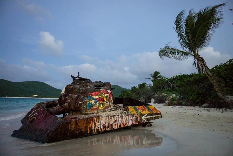 Graffitied tank 3<br /> Culebra, Puerto Rico