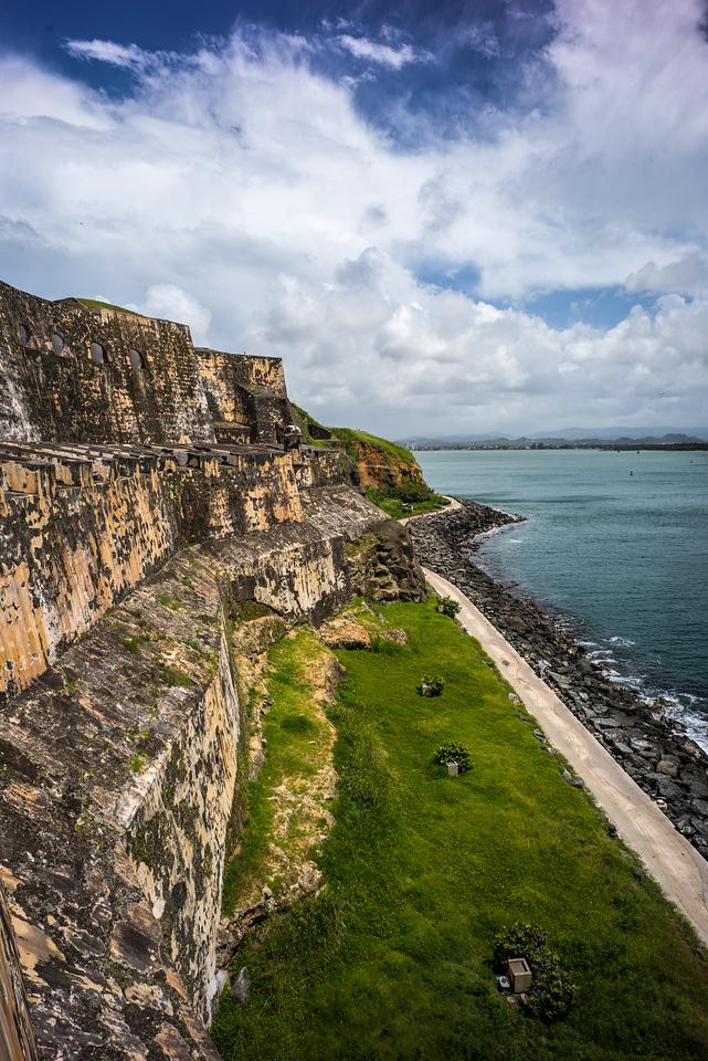 The wall of El Morro, Puerto Rico
