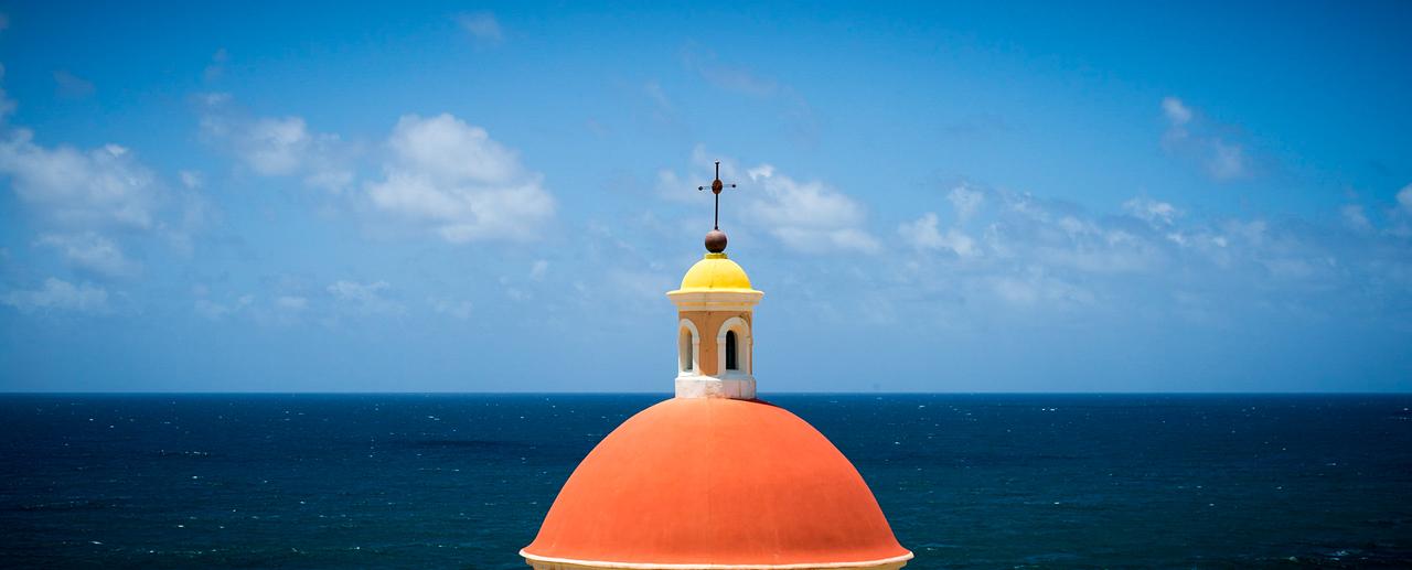 Gravesite tower at El Morro, Puerto Rico