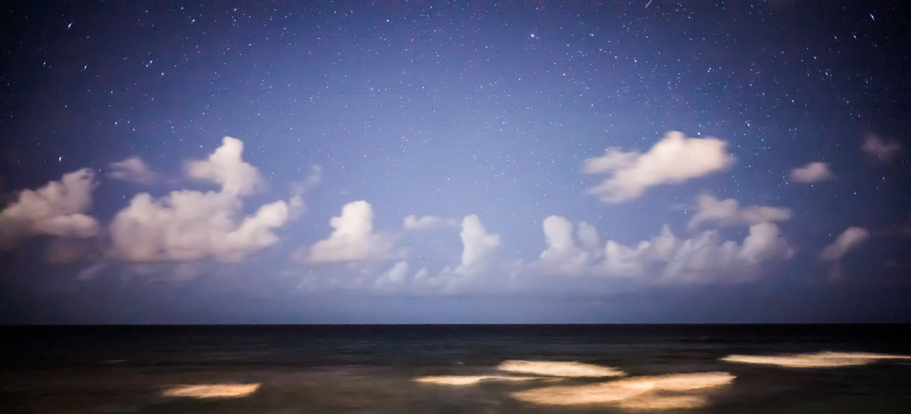 8 seconds in the dark…<br /> An 8 second exposure into the dark night of the Carribean Sea off Puerto Rico.